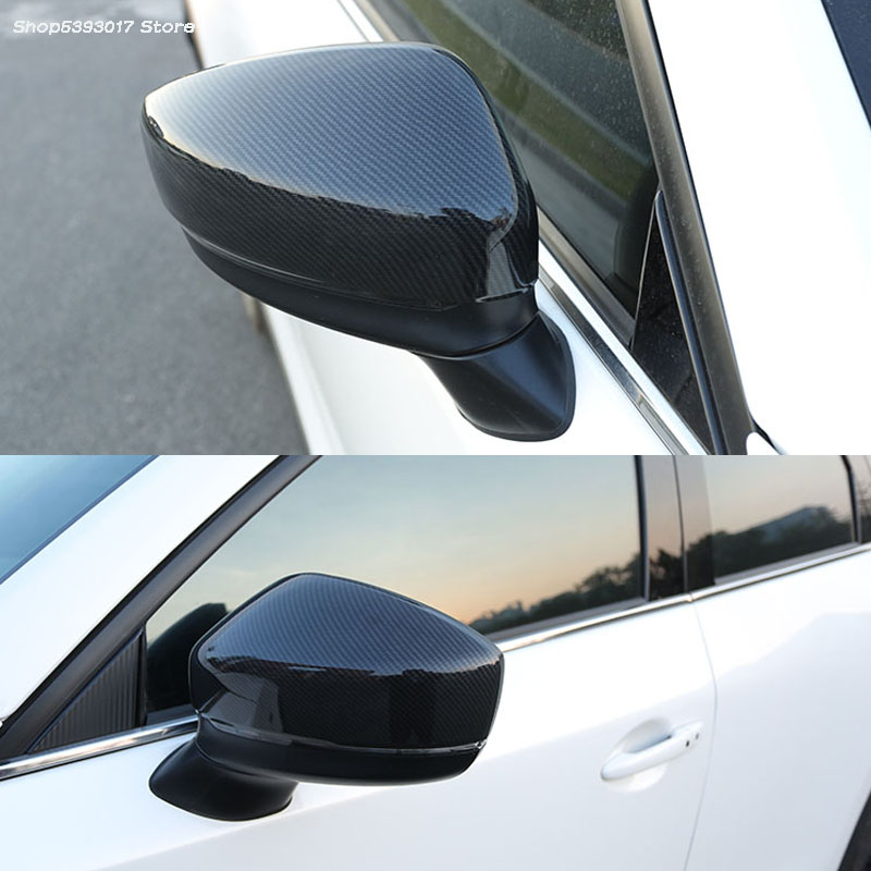 Car Side Mirror Case Chrome Rearview Door Wing Mirror Cover Cap Shell For <font><b>Mazda</b></font> <font><b>CX5</b></font> CX-5 2017 2018 <font><b>2019</b></font> Car <font><b>Accessories</b></font> image