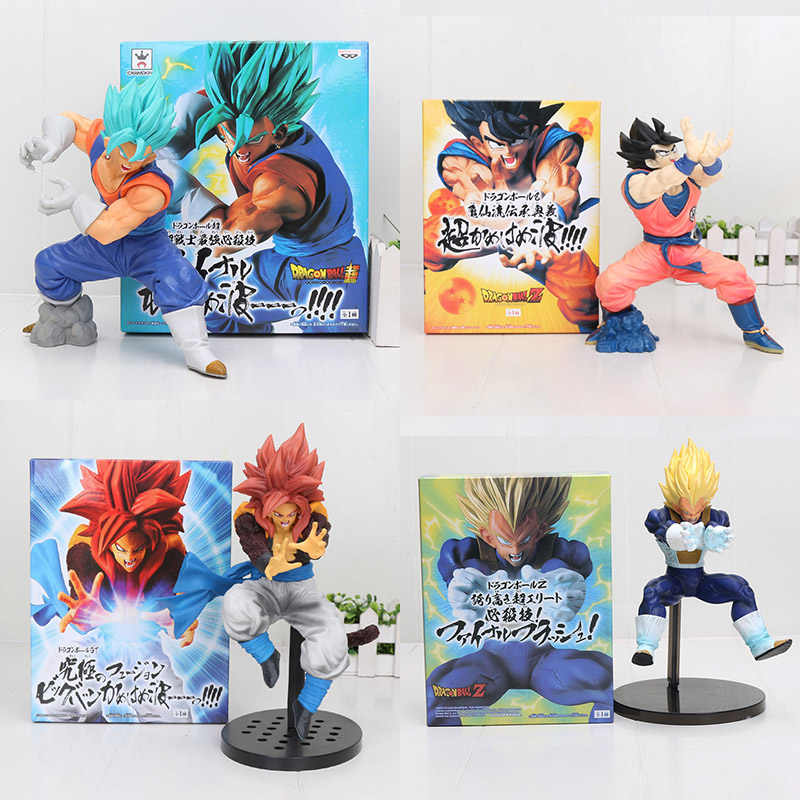 Dragon ball super saiyan deus ss vegetto final kamehameha dragon ball gt gogeta vegeta goku pvc figura de ação brinquedos