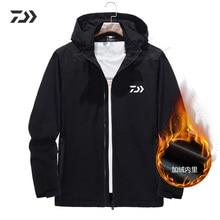 Daiwa Рыбацкая куртка с капюшоном, водонепроницаемая, ветрозащитная, утолщенная, термальная, Осень-зима, одежда для рыбалки, бархатная одежда, рубашка для рыбалки