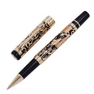 Image 2 - Penna a sfera di lusso di alta qualità Jinhao 5000 Dragon Clip dorata penna a sfera direzionale cancelleria penna regalo per ufficio aziendale
