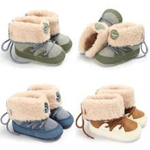 Baby Boy Girl Snow Boots Plush Infant Baby Toddler Warm Boots Kids Boys Girls Winter Outdoor Snow Fur Shoes 0-18M(China)