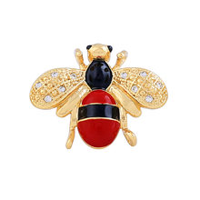 Korean style glaze cute little bee brooch female fashion wild cardigan coat collar pin bag accessories(China)