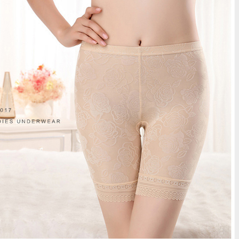 Women Plus Size XL-5XL Lace Safety Shorts Underpants Lingerie Women Boxer Hot Panties Ropa Interior Femenina Short Feminino