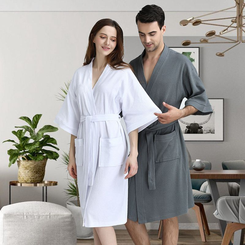 Nightgown Couple Pajamas Steaming Clothes халат банный мужской Ladies Nightgowns Towel Bathrobes Men's Fashion Bathrobe