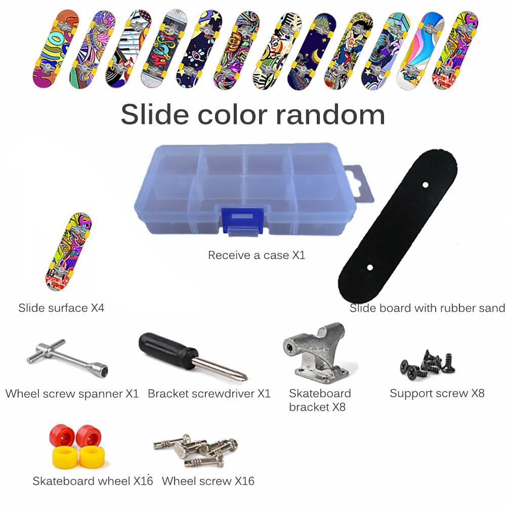 Plastic Mini Finger Skating Board Table Game Toy Kids Skateboard Children Finger Fingerboard Scooter Skate Educational Gifts