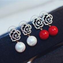 Flowers Pearls Luxury Famous Brand Boucles d'oreille Jewelry Earrings For Women Fancy Earring