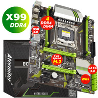 atermiter X99 LGA2011 V3 LGA 2011 Professional 4 Channel DDR4 Desktop Computer Motherboard X 99 LGA2011 3 e5 2678 v3 huanan|Motherboards| |  -