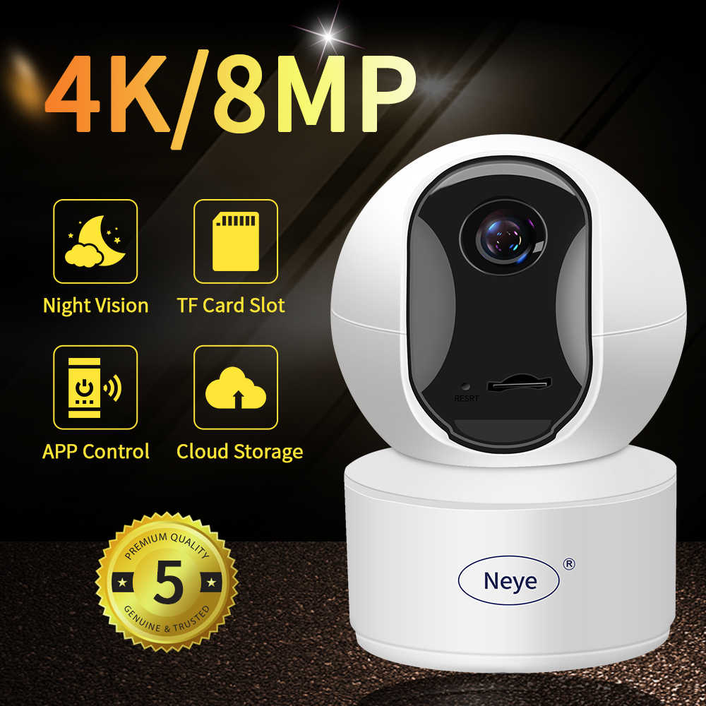 N_eye 4mp Mini Dome Ip Camera Starlight Ingebouwde Microfoon Cctv Camera Wifi Camera 2-Weg Audio Baby monitor Indoor Smart Cam Ip Camera