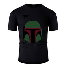 Printed Summer Boba Fett Helmet Tee Shirt Man Cotton O Neck Men's T Shirt Clothing Size Xxxl 4xl 5xl Top Quality(China)