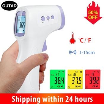 OUTAD cyfrowy termometr na podczerwień czoło ucho bezdotykowe medyczne Termometro LCD gorączka ciała dziecko dorosły pomiar temperatury tanie i dobre opinie NONE inny UX-A-03 TERMOMETRY Elektroniczny 0-3 M 7-9 M 13-18 M 2-3Y 7-9Y 13-14Y 14Y 10-12Y 4-6y 19-24 M 10-12 M 4-6 M