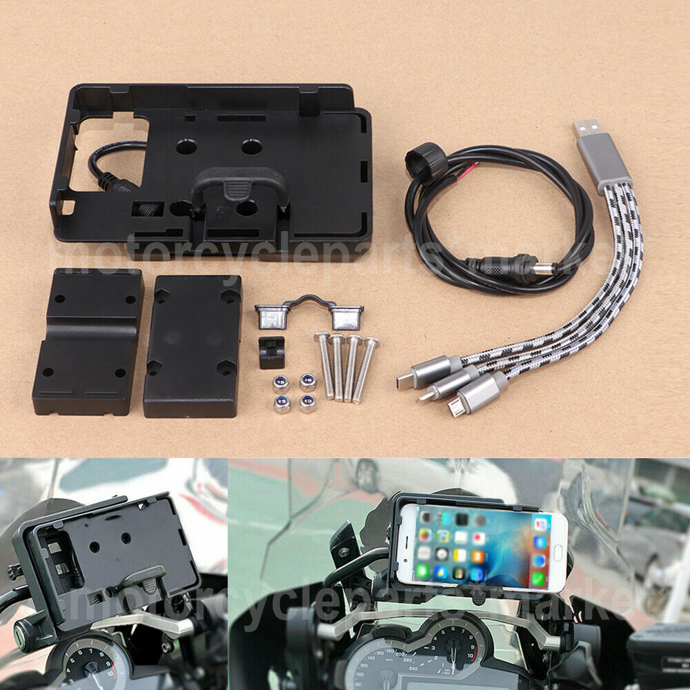 Mobile Phone USB GPS Navigation Bracket USB Charging Mount support For BMW R 1200 GS R1200GS LC/ADV 2013 2018 S1000R S1000XR-in Covers & Ornamental Mouldings from Automobiles & Motorcycles