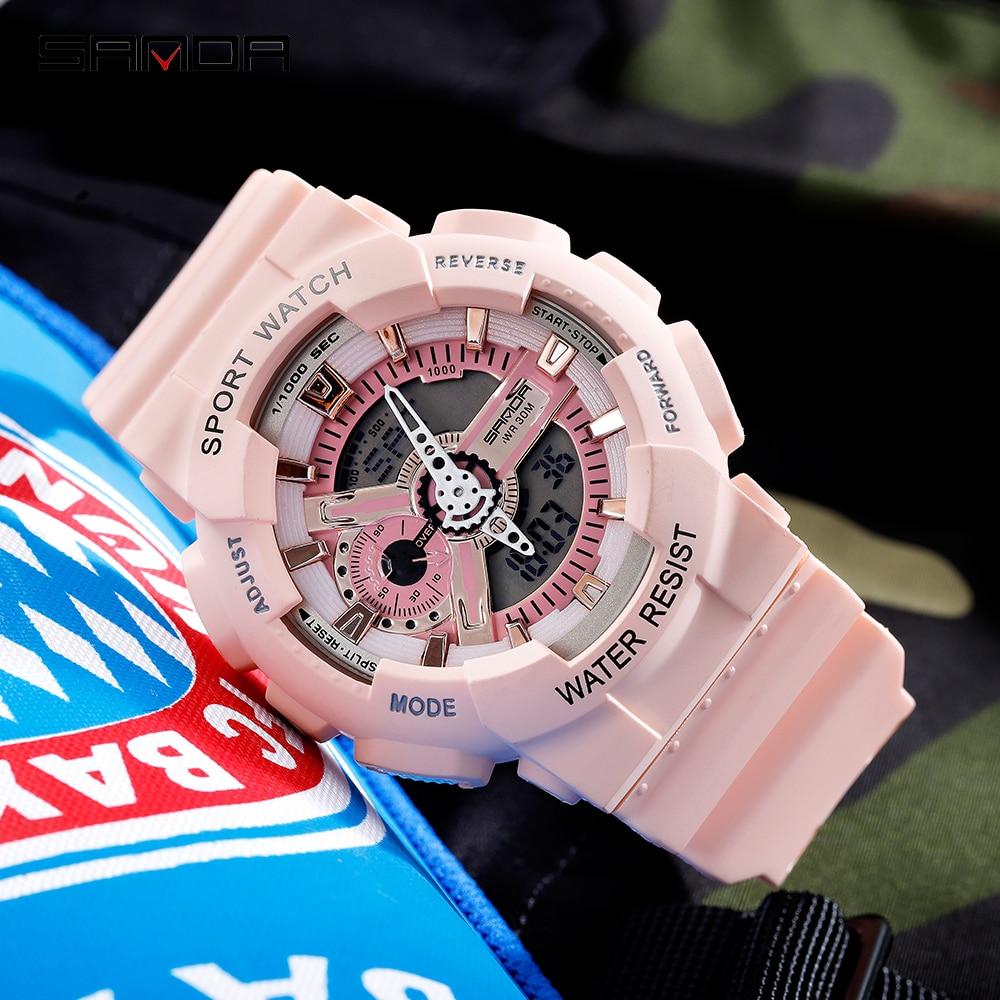 SANDA Sport Watch Men Watches Fashion G style Sport Military Wristwatch Waterproof Dual Display Couples Clock relogio masculino 1