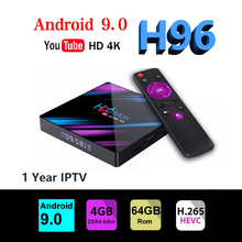 box tv H96 MAX RK3318 box android 9.0 tv boxing 4G 64GB youtube 4K Smart TV Box 2.4&5.0G WiFi BT 4.0 android google все цены