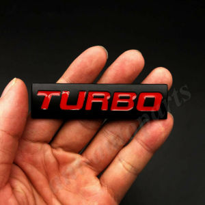 3D Metal Black Turbo T 2.0 2.5 3.0 Car Trunk Rear Emblem Badge Decal Sticker