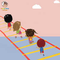 Przedszkole pomoc dydaktyczna sportowe zabawki Hopscotch skok do siatki dzieci integracja sensoryczna trening zabawa na świeżym powietrzu zabawki do gry koło