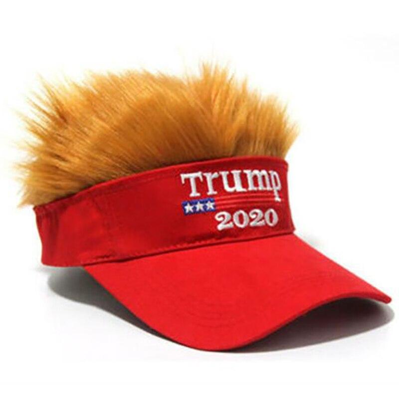 Камуфляжная кепка Дональд Трамп 2020, кепка Америка Грейт мага, Кепка с париком, камуфляжная Мужская бейсболка для женщин и мужчин