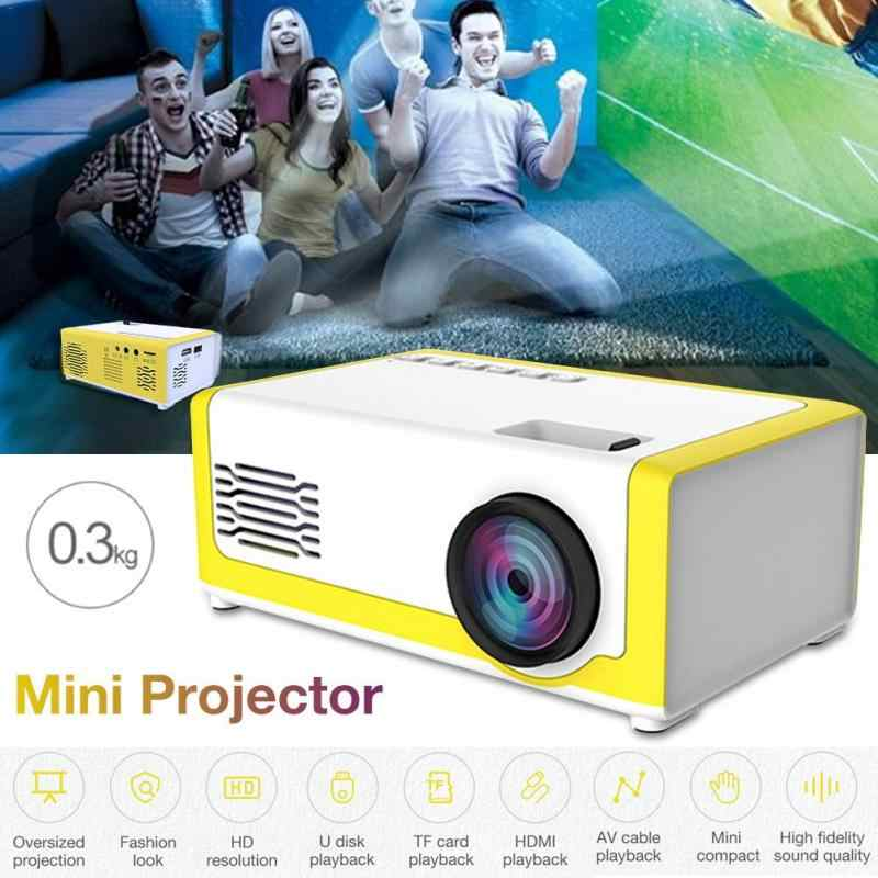YG300 LED Mini Proyektor 320X240 Piksel Mendukung 1080P YG-300 HDMI USB Audio Portabel Proyektor Home Media Video pemain