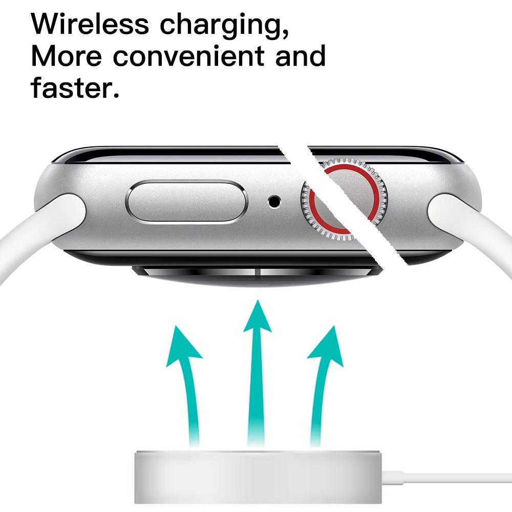 Смарт часы W55M с беспроводной зарядкой, Bluetooth, ECG, голосовое пробуждение, 44 мм диаметр, спортивный браслет для IOS телефона, бесплатная доставка - 5