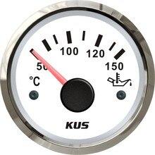 Electrical Water Oil Temperature Gauge Waterproof 52mm 2inch 12/24V 50 150 Celsius Degree