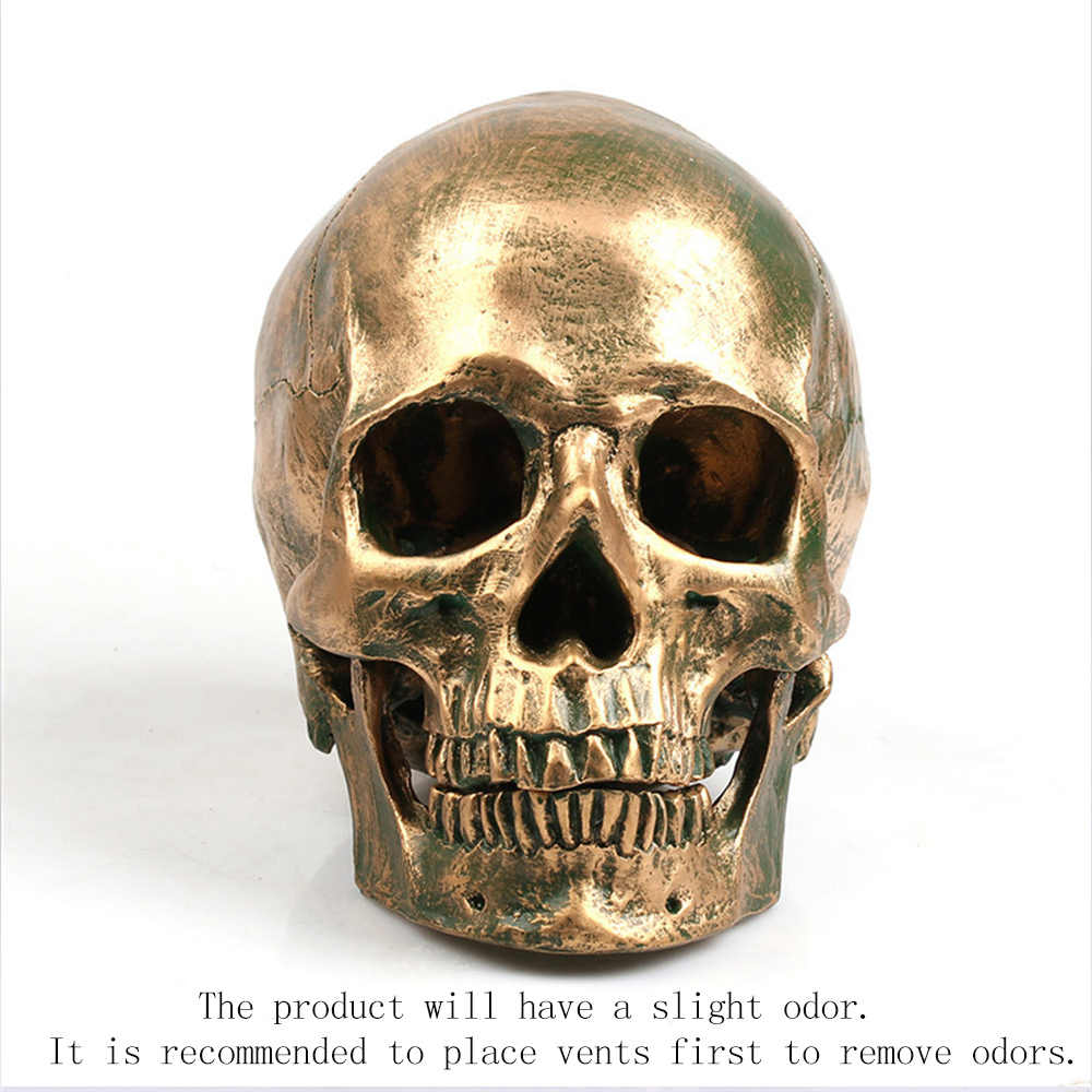 P-Flame 1:1 Resin Skull Model Halloween Decoration Painting Medicine Makeup Props Model Sculpture Statue Crafts Home decoration