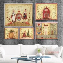 Love World Festival Gift Canvas Painting Vintage Poster Nordic Home Decoration Christmas Thanksgiving Wall Art Pictures No Frame(China)