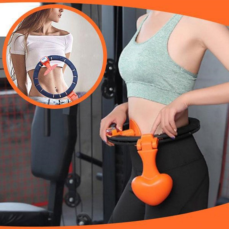 Hoops for Women Lose Weight Acirassi Detachable Exercise Hoop for Adults Home Fitness Workout 8-Section Removable and Adjustable Weight Sports Hoop for Exercise