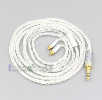 LN006574 3.5mm 2.5mm 4.4mm XLR 8 Core Silver Plated OCC Earphone Cable For Dunu dn-2002