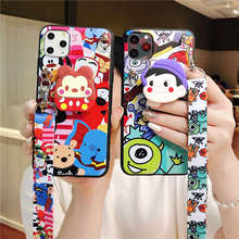 Cartoon Lanyard Couple case For Vivo V15 Pro V11 V11i Y17 X21i Y93 Y91 Y85 Y79 Y75 Y71 Y83 Y81 Y67 Y66 Y53 Y55 Y51 X9 X9S Plus candy silicone case for vivo v11i v15 pro v7 plus y79 v9 y85 y89 x20 x21 x23 x27 x7 x9s y53 y55 y66 y67 y69 y71 y81 y83 y91 case