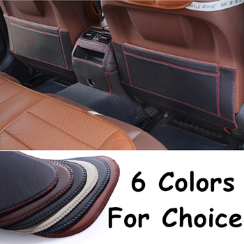 SJ Fiber leather Car Rear Seat Anti-Kick Pad Back Seats Cover Armrest Anti-dirty Protection Mat For Toyota Corolla 2007 08-2013 image