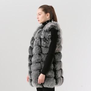 Image 2 - QIUCHEN PJ19035 2020 Nuovo arrivo reale della pelliccia di fox delle donne di inverno di modo della maglia della maglia di Trasporto libero caldo di vendita di spessore pellicce