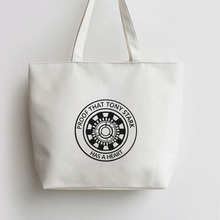 Proof that tony stark has a heart Canvas Tote bag Cartoon Shopping bags Shoulder Reusable Shopper Grocery Bag AN389 AN390 AN391