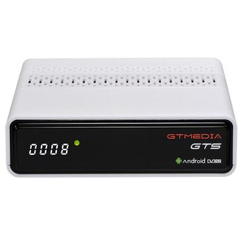FFYY-CCCAM IPTV GTMEDIA GTS Satellite Receiver Android6.0 TV BOX+DVB-S/S2 Smart TV BOX Built-In WiFi HD 4K Remote Control Set To