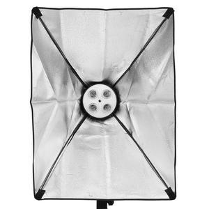 Image 4 - 1.6*3 メートルグリーンスクリーン不織布背景サポートスタンドキット 4 ランプソケット 25 ワットledランプ写真撮影 50 × 70 センチメートル照明ソフトボックスセット