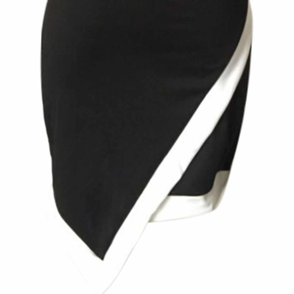 Delle Donne del vestito O-Collo di Colore Solido Mezza Manica Lunga Splice Irregolare casual Mini Vestiti A Maniche Lunghe 2020 di Autunno della Molla del Vestito # YL5