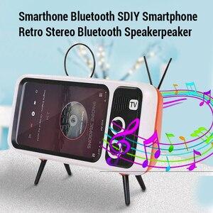 Image 3 - TV Del Telefono Mobile Del Supporto Del Basamento Per il iPhone 4.7 5.5 pollici Del Telefono Staffa di Montaggio Altoparlante Senza Fili di Bluetooth Audio Del Telefono Fisso supporto