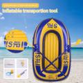 Надувная гребная лодка на 2 человек, 150x100 см, 100 кг, прочная ПВХ резиновая лодка для рыбалки, набор с насосом для весла, другой комплект