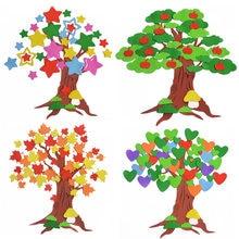 T-N Großen Baum Blume Kindergarten Wand Dekoration Aufkleber Eva Schaum Wand Aufkleber Klassenzimmer Tafel Zeitung Handgemachte DIY Spielzeug