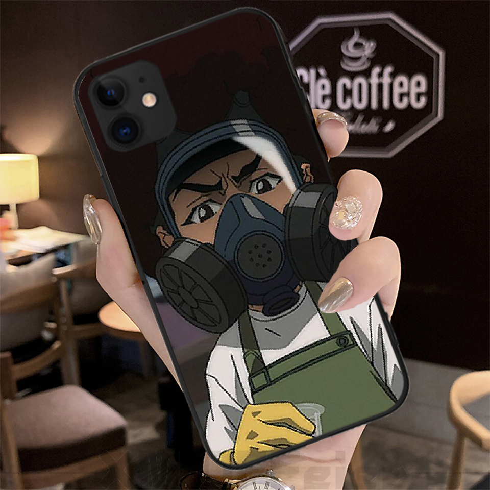BaweiTE The Boondocks huey and riley Soft black Phone Case For