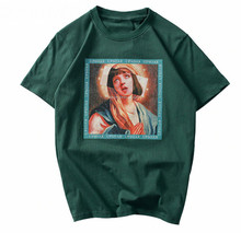 New Virgin Mary Men'S Women 100% Cotton Vintage T-Shirt Men Shirt Streetwear Fashion Cool Tee Shirt(China)