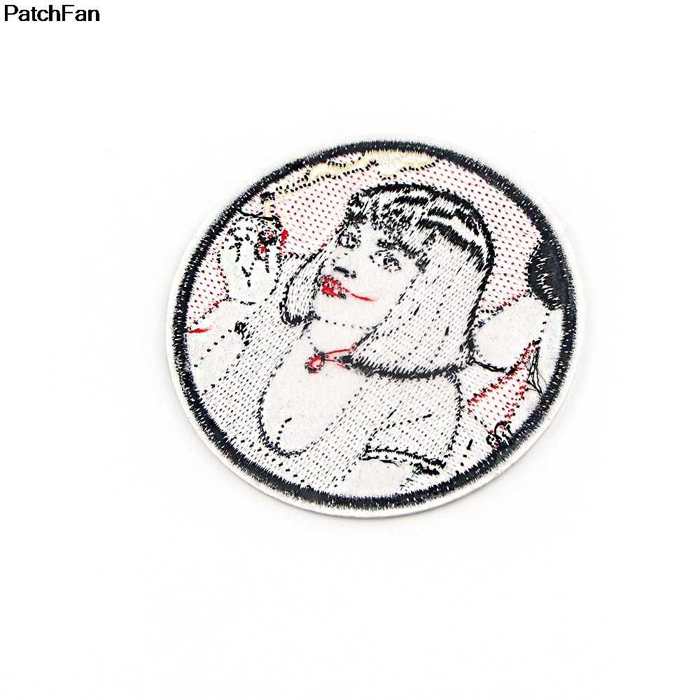 A3757 Patchfan Phim Hoạt Hình Bột Giấy Viễn Tưởng Bé Gái Sắt Trên Miếng Dán Quần Áo Dán Embroideried Miếng Dán Cường Lực Phụ Kiện Huy Hiệu