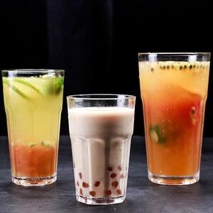 Image 5 - 6 個プラスチックビールカップ透明飲料タンブラーブレイク耐性飲料再利用可能なレストランタンブラージュース茶バーパーティー