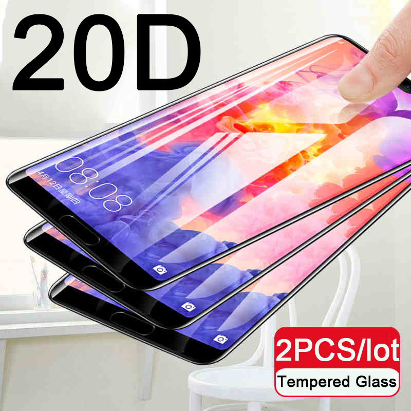 2pcs 20D Tempered Glass For Huawei P20 Lite P20 Pro P 20 Plus P20lite P20pro P20plus 20lite 20pro 20plus Full Screen Protector