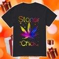 2020 Круглый воротник футболка мужская летняя мужская футболка с коротким рукавом Stoner цыпленок рубашка с изображением травки