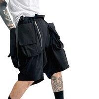 PUPIL TRAVEL PT 2008 hip hop cargo military techwear shorts loose summer multi pockets casual knee length short pants streetwear