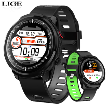 2019 New LIGE Smart Watch Men Waterproof Sports clock Heart Rate Monitoring Weather Forecast Smartwatch for IOS Android