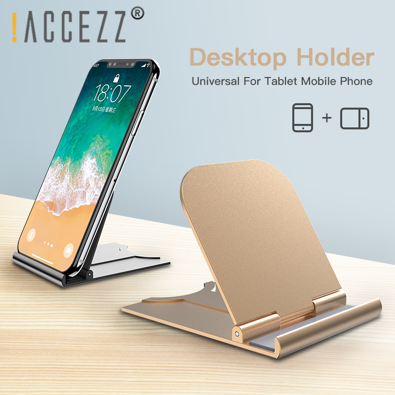 !ACCEZZ Universal Phone Holder Stand For IPhone 11 X Samsung Huawei Smartphone Mobile Phone Cell Desktop Bracket Support Tablet