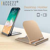 ! ACCEZZ Universale Del Telefono Del Supporto Del Basamento Per Il IPhone 11 X Samsung Huawei Smartphone Mobile Delle Cellule Del Telefono Desktop Staffa di Supporto Tablet