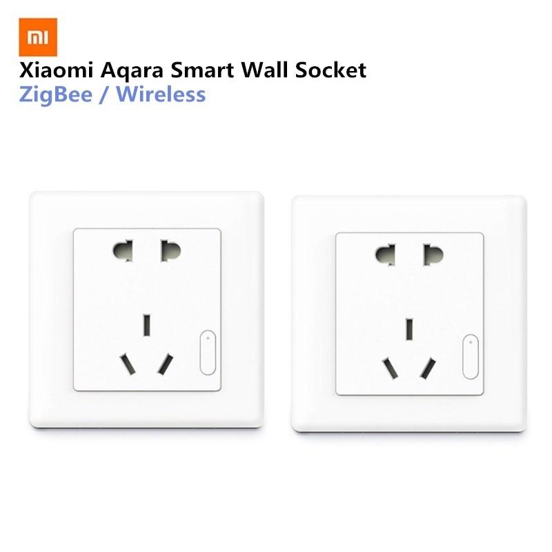 Aqara Inteligente Interruptor Da Tomada de Parede Tomada de Parede Tomada de Parede Sem Fio ZigBee Mijia Kits de Trabalho Para Casa Inteligente APP