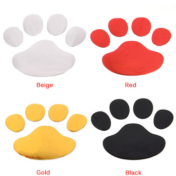 3D Dog Paw Footprint PVC car stickers decal dog bear cat animal foot print sticker Car styling auto motorcycle decor image