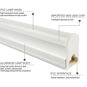 Image 2 - Ampoule Tube T8 LED néon, 10w 60cm, ac 110/220v, Tube Fluorescent à LED, lampe à LED, laiteux, blanc chaud, rouge, bleu, rose, SMD2835
